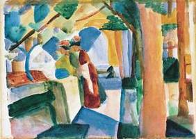On the Cemetery - August Macke