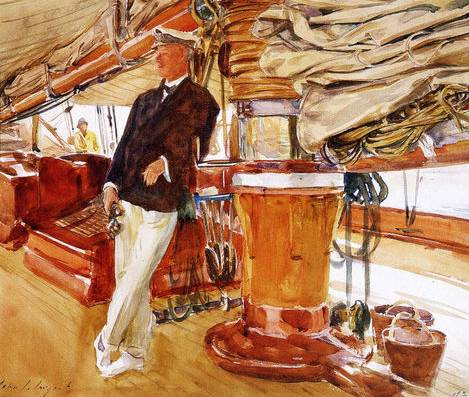 On the Deck of the Yacht Constellation - John Singer Sargent