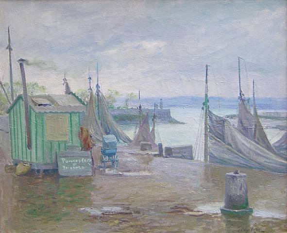 On the Honfleur Jetty - Guy Rose