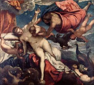Origin of the Milky Way - Jacopo Robusti Comin Tintoretto