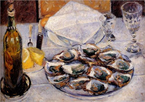 Oysters - Gustave Caillebotte