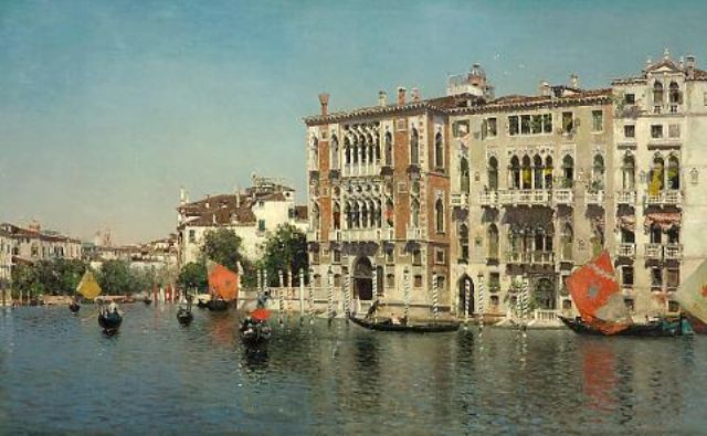 Palazzo Cavalli and Palazzo Barbaro on the Grand Canal - Martin Rico Ortega