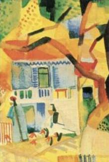 Country House Court At Stgermain - August Macke