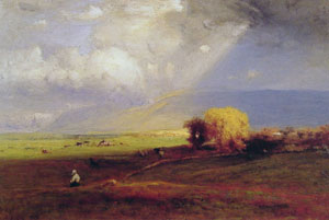 Passing Clouds Passing Shower - George Inness