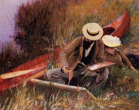 Paul Helleu Sketching with his Wife - John Singer Sargent