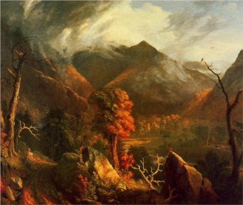 Peace at Sunset (Evening in the White Mountains) - Thomas Cole