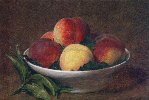 Peaches in a Bowl - Henri Fantin-Latour