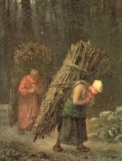 Peasant Women with Brushwood - Jean Francois Millet