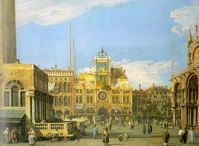 Piazza San Marco, looking north - Canaletto