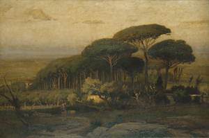 Pine Grove of the Barberini Villa - George Inness