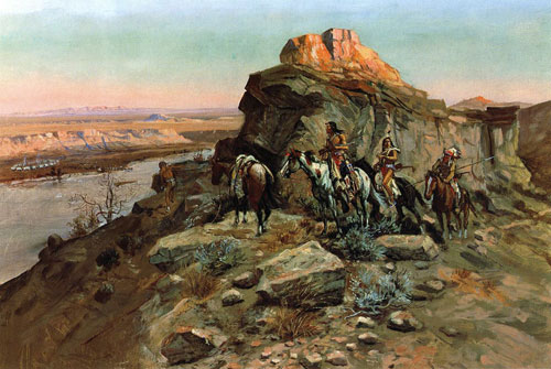 Planning the Attack - Charles Marion Russell