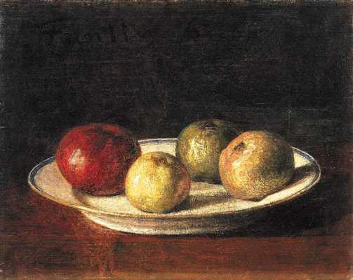 Plate of Apples - Henri Fantin-Latour