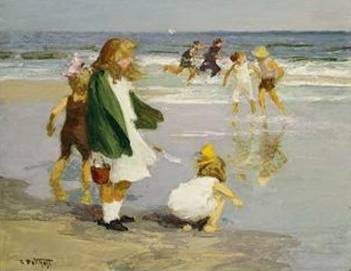 Play in the Surf - Edward Henry Potthast