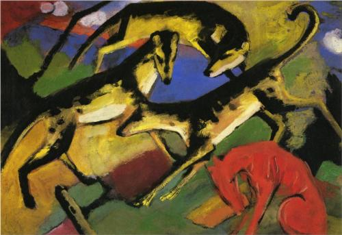 Playing Dogs - Franz Marc