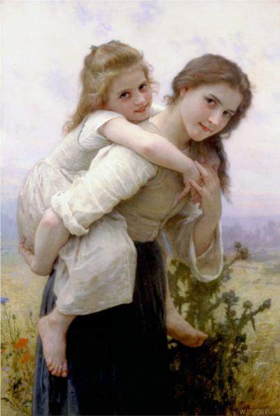 Pleasant Burden - William Adolphe Bouguereau