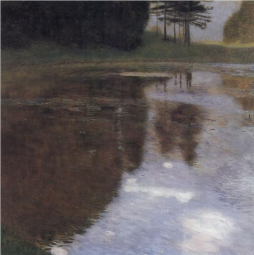 Pond in the Park of Appeal - Gustav Klimt