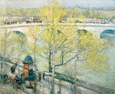Pont Royal, Paris - Childe Hassam