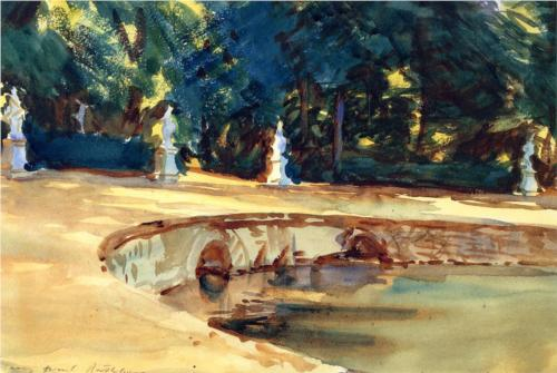 Pool in the Garden of La Granja - John Singer Sargent