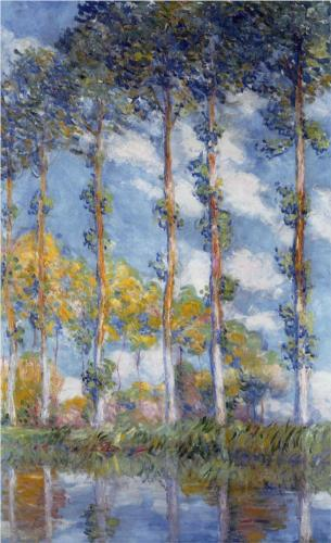 Poplars - Claude Monet