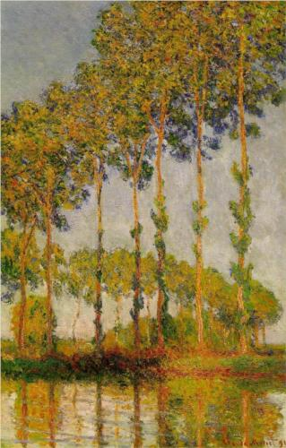 Poplars, Row in Autumn - Claude Monet