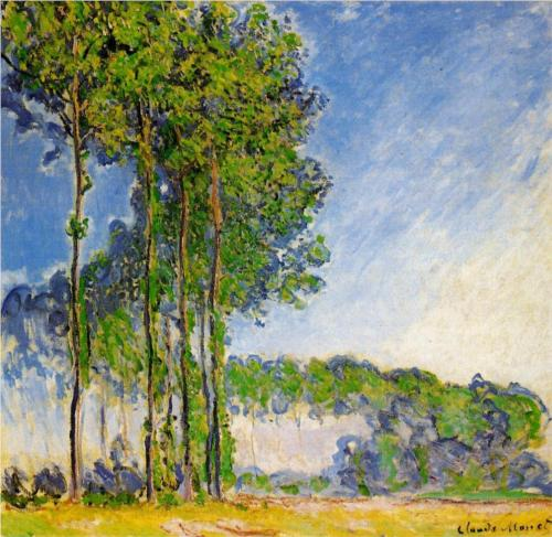 Poplars, View from the Marsh - Claude Monet