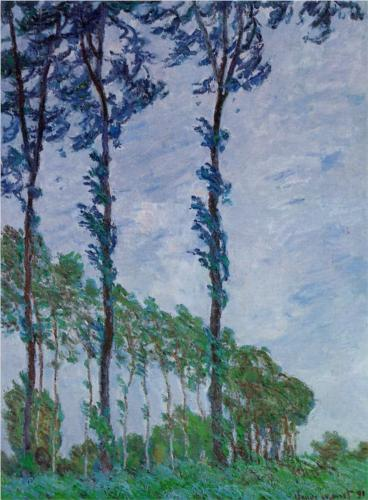 Poplars, Wind Effect - Claude Monet