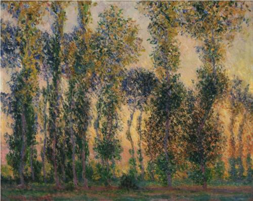 Poplars at Giverny 1888 - Claude Monet