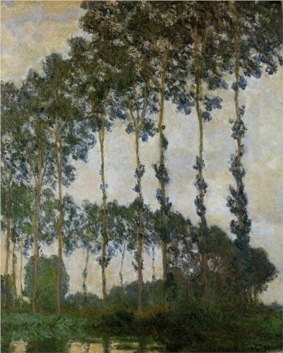 Poplars at Giverny 1891 II - Claude Monet
