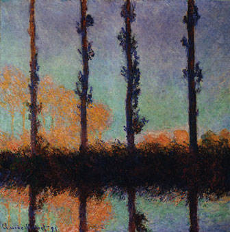 Poplars at Giverny - Claude Monet