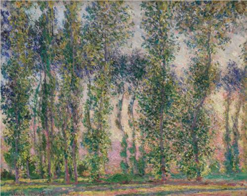 Poplars at Giverny II - Claude Monet