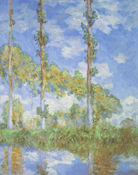 Poplars in the Sun - Claude Monet