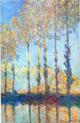 Poplars on the Banks of the Epte - Claude Monet