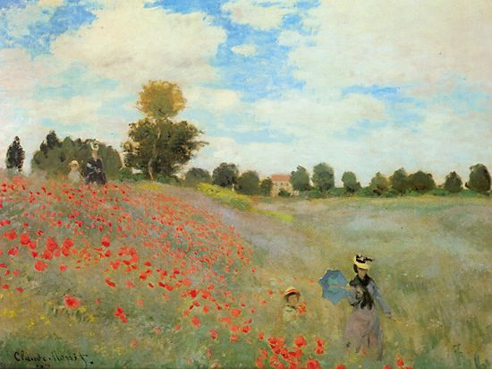 Poppies at Argenteuil - Claude Monet