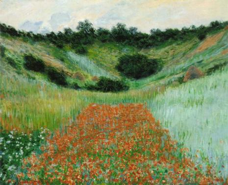 Poppies in Hollow - Claude Monet