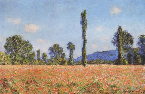 Poppy Field at Giverny - Claude Monet