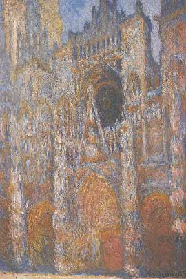 Portal and Facade in Sunlight, Rouen Cathedral - Claude Monet