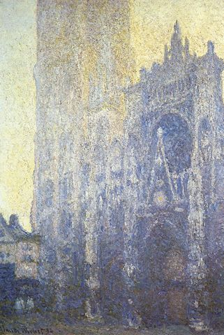 Portal in Morning, Rouen Cathedral - Claude Monet