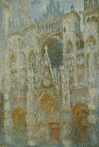 Portal in Morning Sun, Rouen Cathedral - Claude Monet
