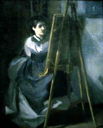 Portrait of Sister as Artist - Eva Gonzales