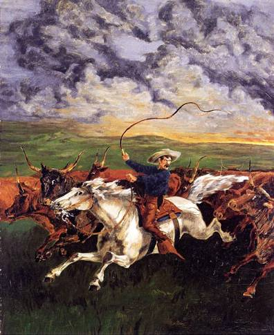 Prairie Fire - Frederic Remington