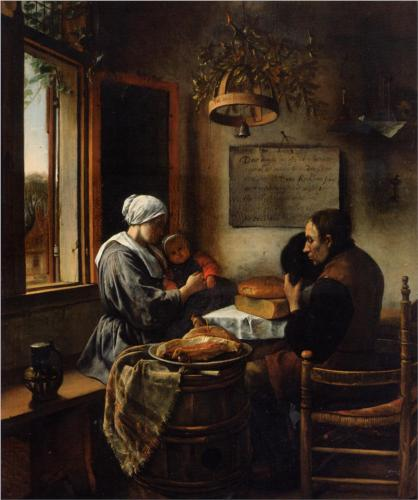 Prayer before the Meal - Jan Steen
