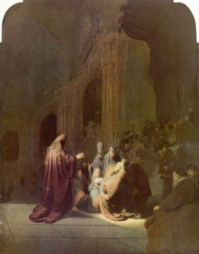 Presentation of Jesus in the Temple II - Rembrandt van Rijn