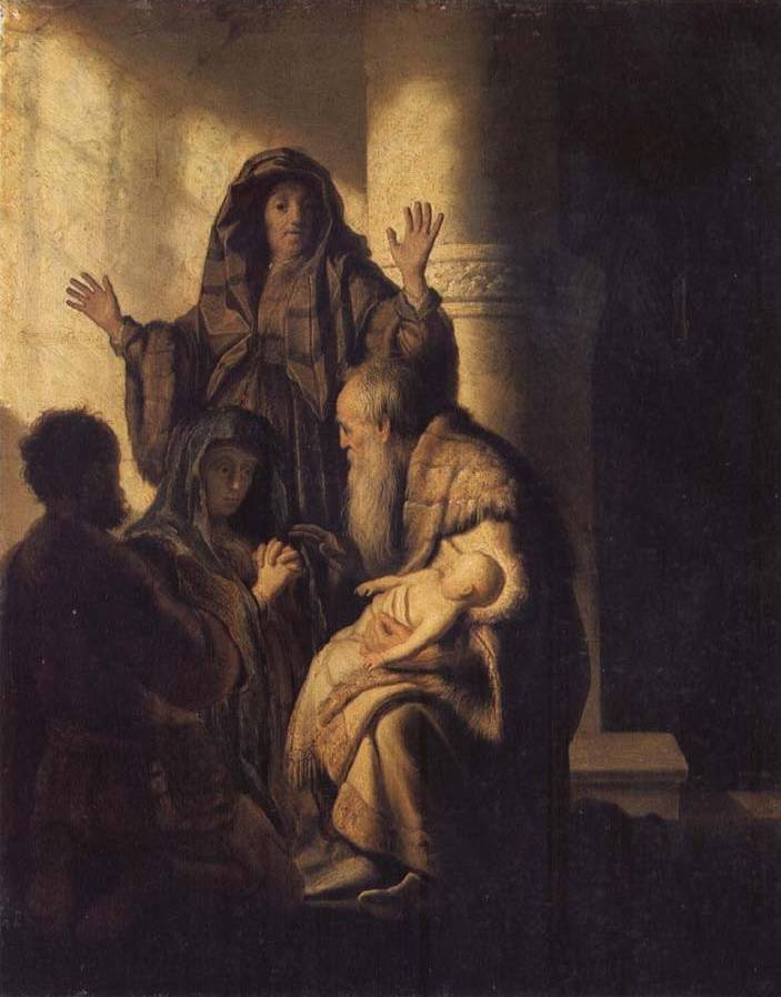 Presentation of Jesus in the Temple - Rembrandt van Rijn