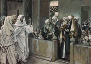 Priests Ask Jesus by Whose Authority He Acts - James Tissot