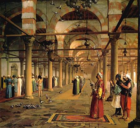 Public Prayer in the Mosque of Amr, Cairo - Jean Leon Gerome