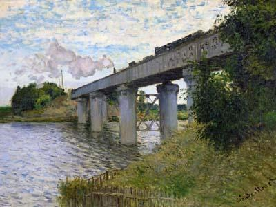 Railroad Bridge at Argenteuil - Claude Monet
