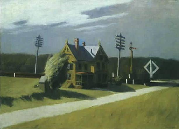 Railroad Crossing II - Edward Hopper