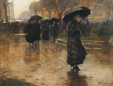 Rain Storm, Union Square - Childe Hassam