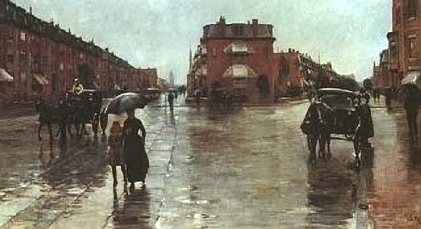 Rainy Day on Columbus Street in Boston - Childe Hassam