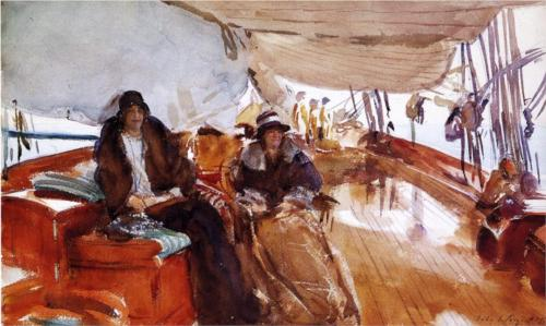 Rainy Day on the Yacht Constellation - John Singer Sargent